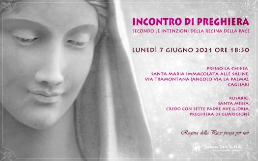 Incontro Preghiera Amici Medjugorje Sardegna 7 Giugno 2021