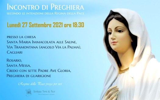 Incontro Preghiera Amici Medjugorje Sardegna 27 Settembre 2021