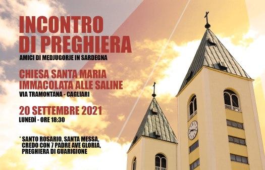 Incontro Preghiera Amici Medjugorje Sardegna 20 Settembre 2021