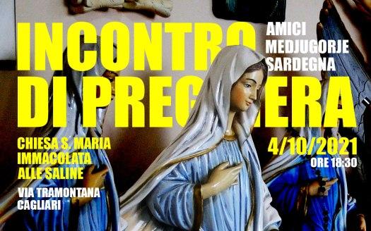 Incontro Preghiera Amici Medjugorje Sardegna 4 Ottobre 2021